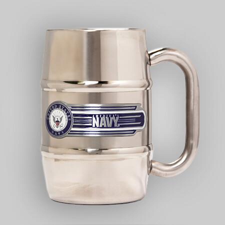 U.S. Navy 16oz Barrel Steel Mug