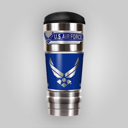 U.S. Air Force 18oz Vacuum Steel Tumbler