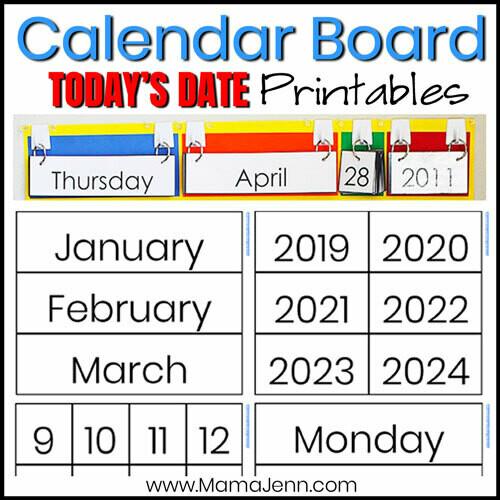 Calendar Board: Today's Date