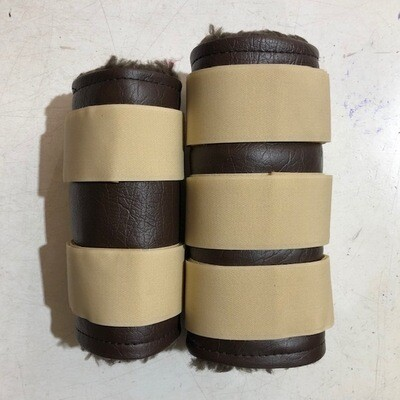 Sheepskin/ Vinyl Paddock Boots (Cob)