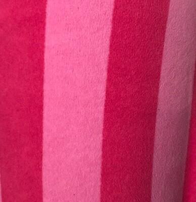 Hot Pink/Pale Pink Stripe Polar Fleece