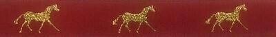 Horse Binding- Red/GoldHorse