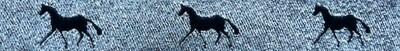 Horse Binding- Silver/ Navy Horse