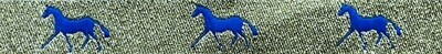 Horse Binding- Gold/Royal Horse