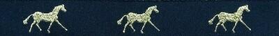 Horse Binding- Black/Gold Horse