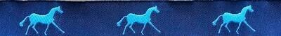 Horse Binding- Navy/Sky Horse