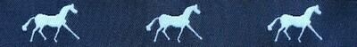Horse Binding- Navy/White Horse