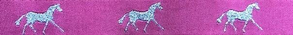 Horse Binding- Pink/ Silver Horse