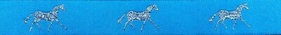 Horse Binding- Turquoise/ Silver Horse