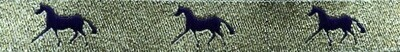 Horse Binding- Gold/ Purple Horse