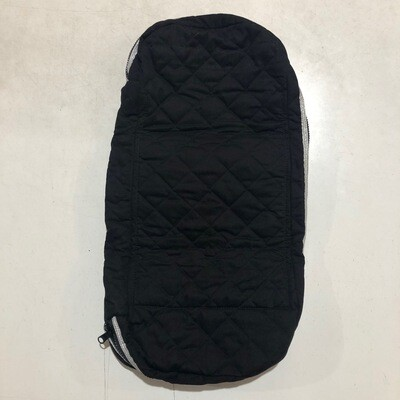 Bridle Bag - Quilted Black/Silver