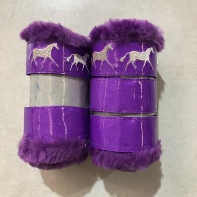 Sheepskin/Vinyl Show Boots (Pony) - Seconds