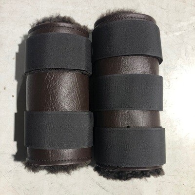 Sheepskin Vinyl Paddock Boots (Cob)