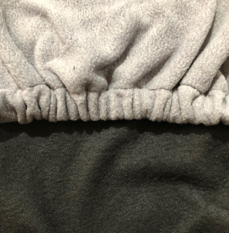 Polar Fleece Saddle Cover -Black/Grey