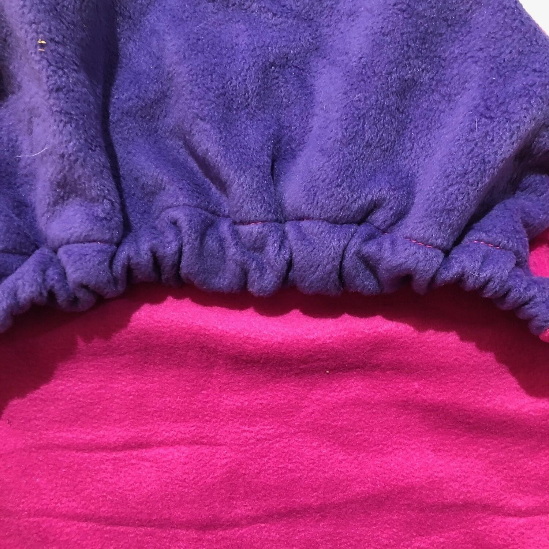 Polar Fleece Saddle Cover - Pink/Purple