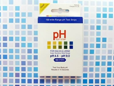 4.5 - 9.0 pH Test Strips (100 Strips/box)