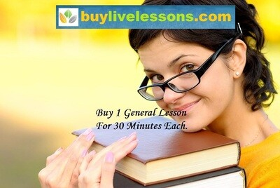 BUY 1 GENERAL LIVE LESSON FOR 30 MINUTES