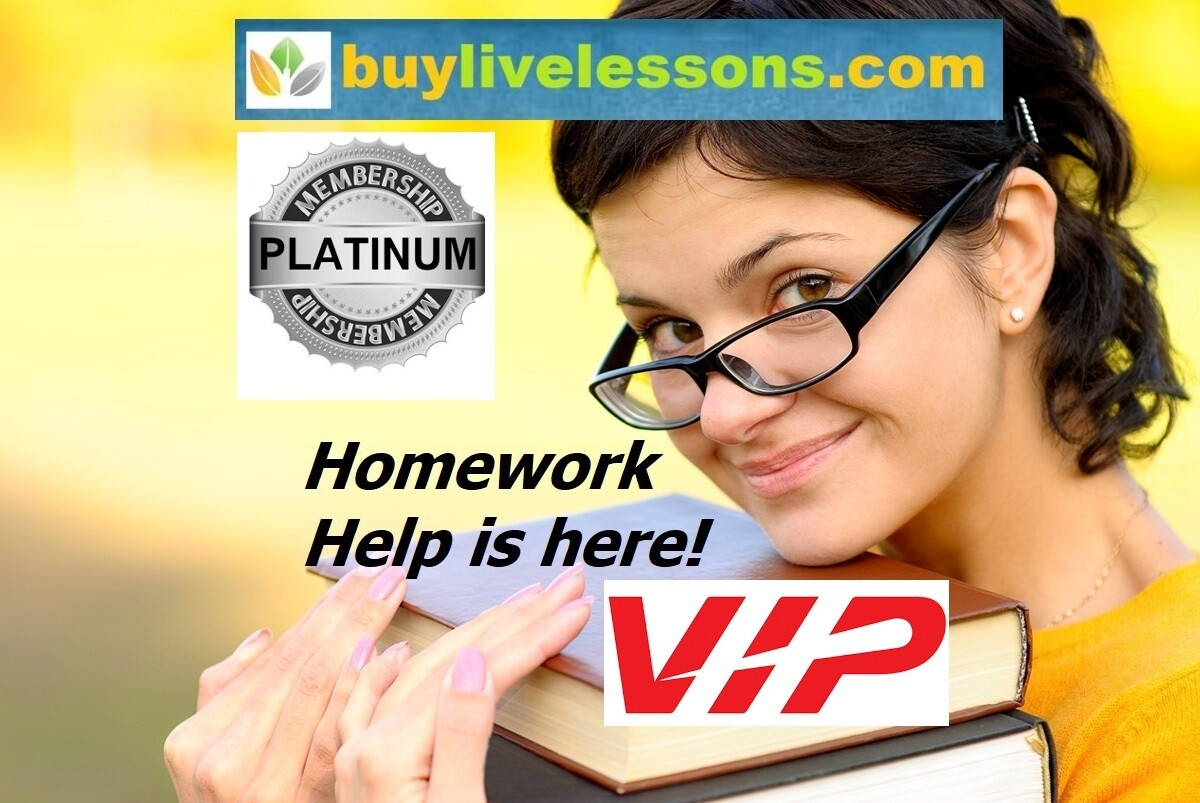 BUY PLATINUM HOMEWORK HELP, UP TO 300 PAGES