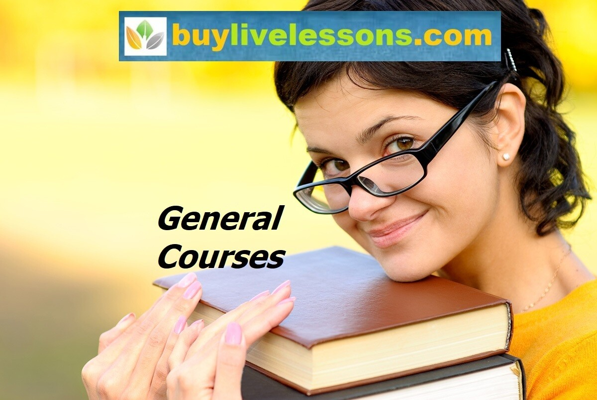 BUY 20 GENERAL LIVE LESSONS FOR 90 MINUTES EACH.