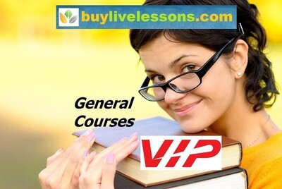 BUY100 VIP GENERAL LIVE LESSONS FOR 90 MINUTES EACH.
