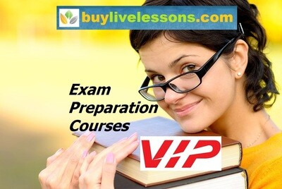 BUY 40 VIP EXAM PREPARATION LIVE LESSONS FOR 30 MINUTES EACH.