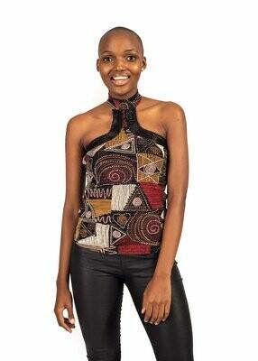 African modern art Cocktail blouse
