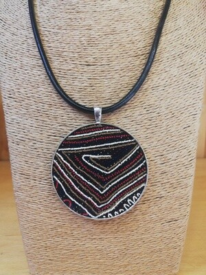 100% leather, African inspired necklace