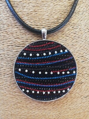 100% leather modern African inspired necklace