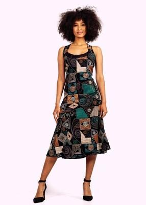Modern African inspired cocktail dress!