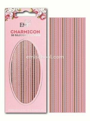 Charmicon 3D Silicone Stickers Chain #6, Gold/Silver