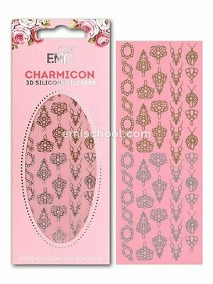 Charmicon 3D Silicone Stickers #2 Jewelry, Gold/Silver