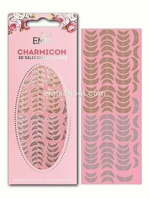 Charmicon 3D Silicone Stickers Lunula #15, Gold/Silver