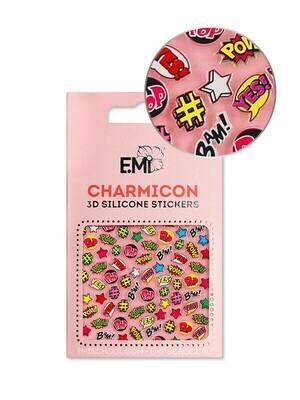 Charmicon 3D Silicon Stickers #128 Pop Art