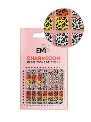 Charmicon 3D Silicone Stickers #130 Zebra