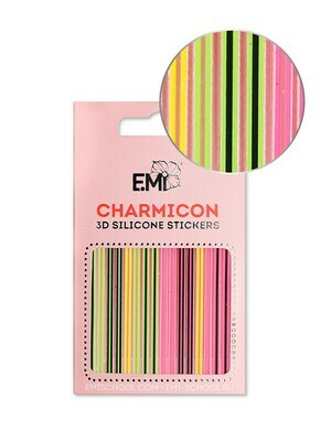 Charmicon 3D Silicone Stickers #129 Neon Lines