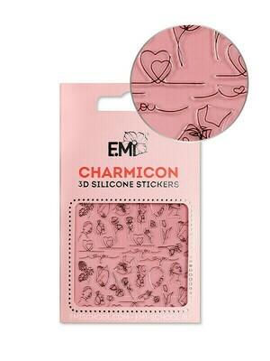 Charmicon 3D Silicone Stickers #121 Love