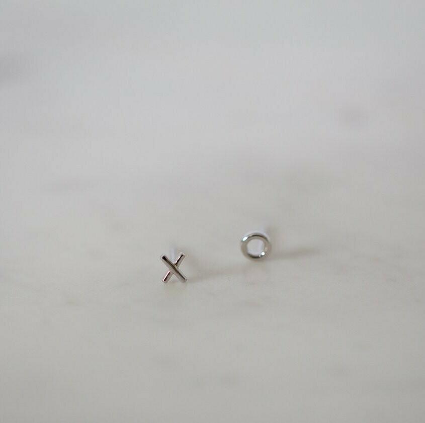 Ex Oh Stud Earrings - Sterling Silver