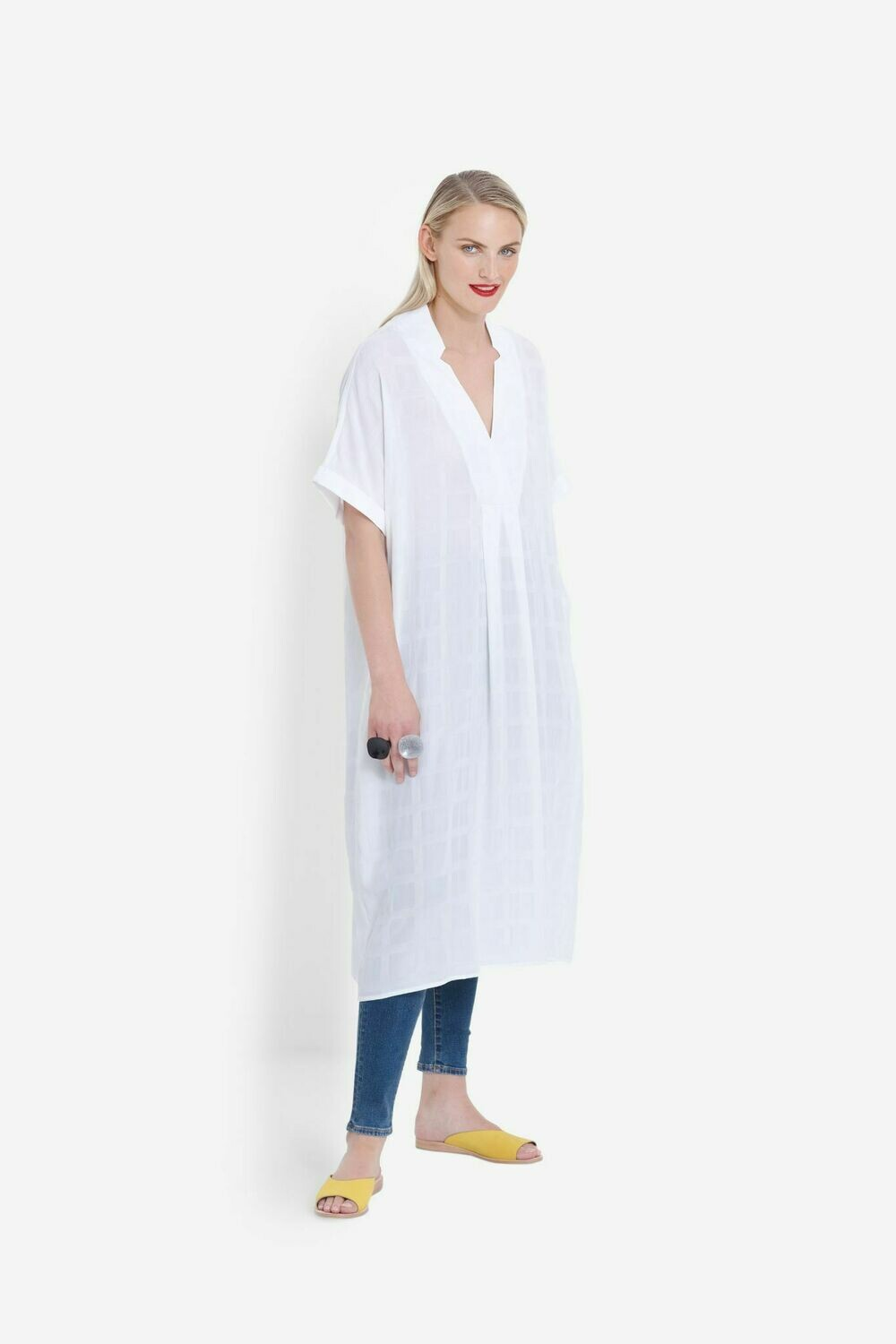 Flekke Dress - White