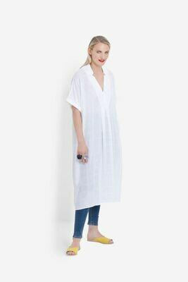 Flekke Dress - White