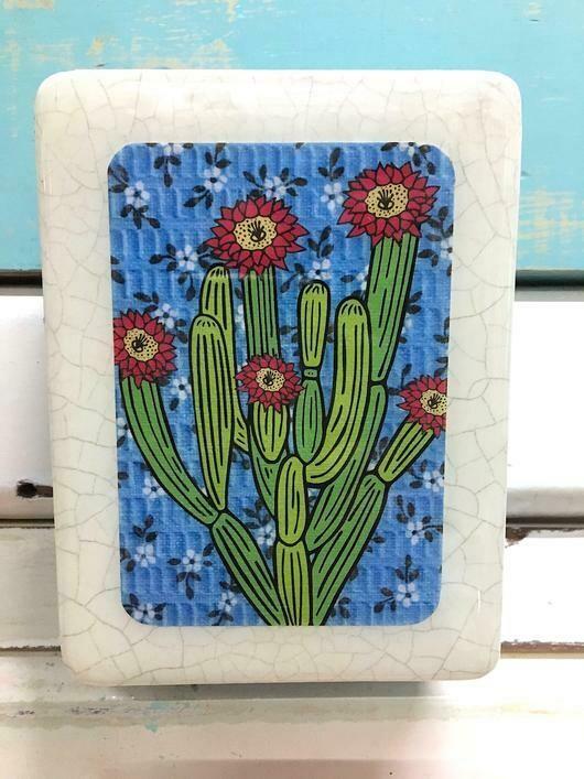 Mini Woodblock - Pipe Organ Cactus