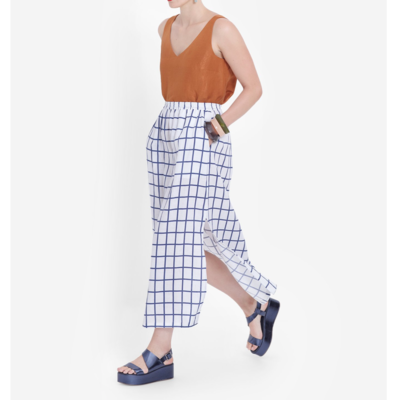 Hopen Skirt - White/Blue