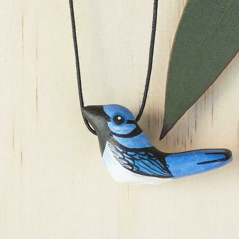 Whistle Necklace - Superb Fairy Wren