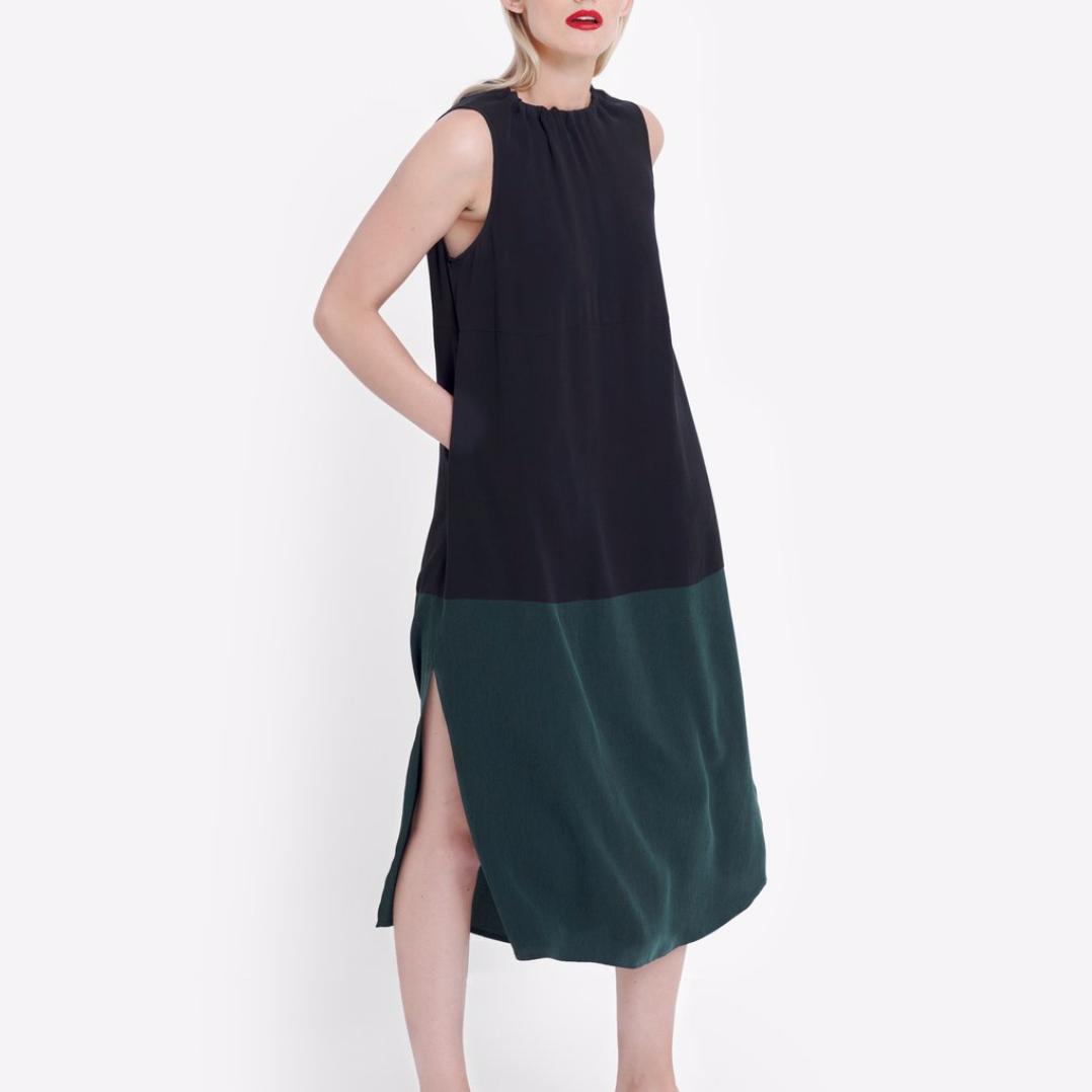 Molger Dress - Forest/Black