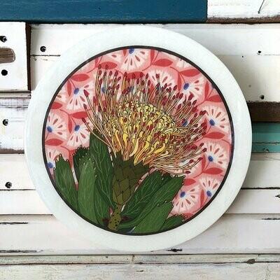 Roundy Woodblock - Pin Cushion Protea