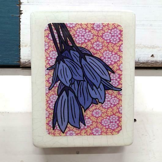 Mini Woodblock - Blue Bell Creeper