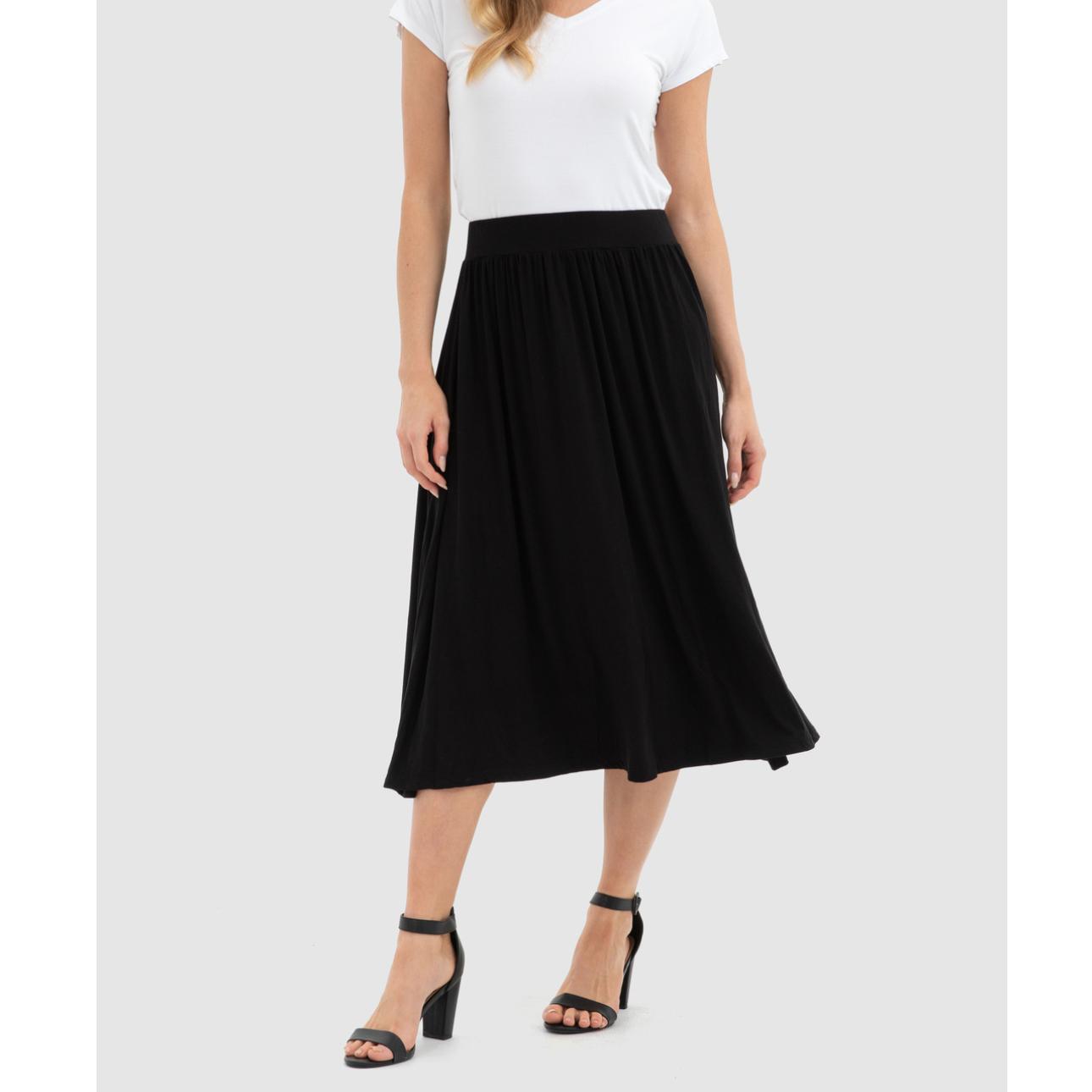 Midi Skirt - Black