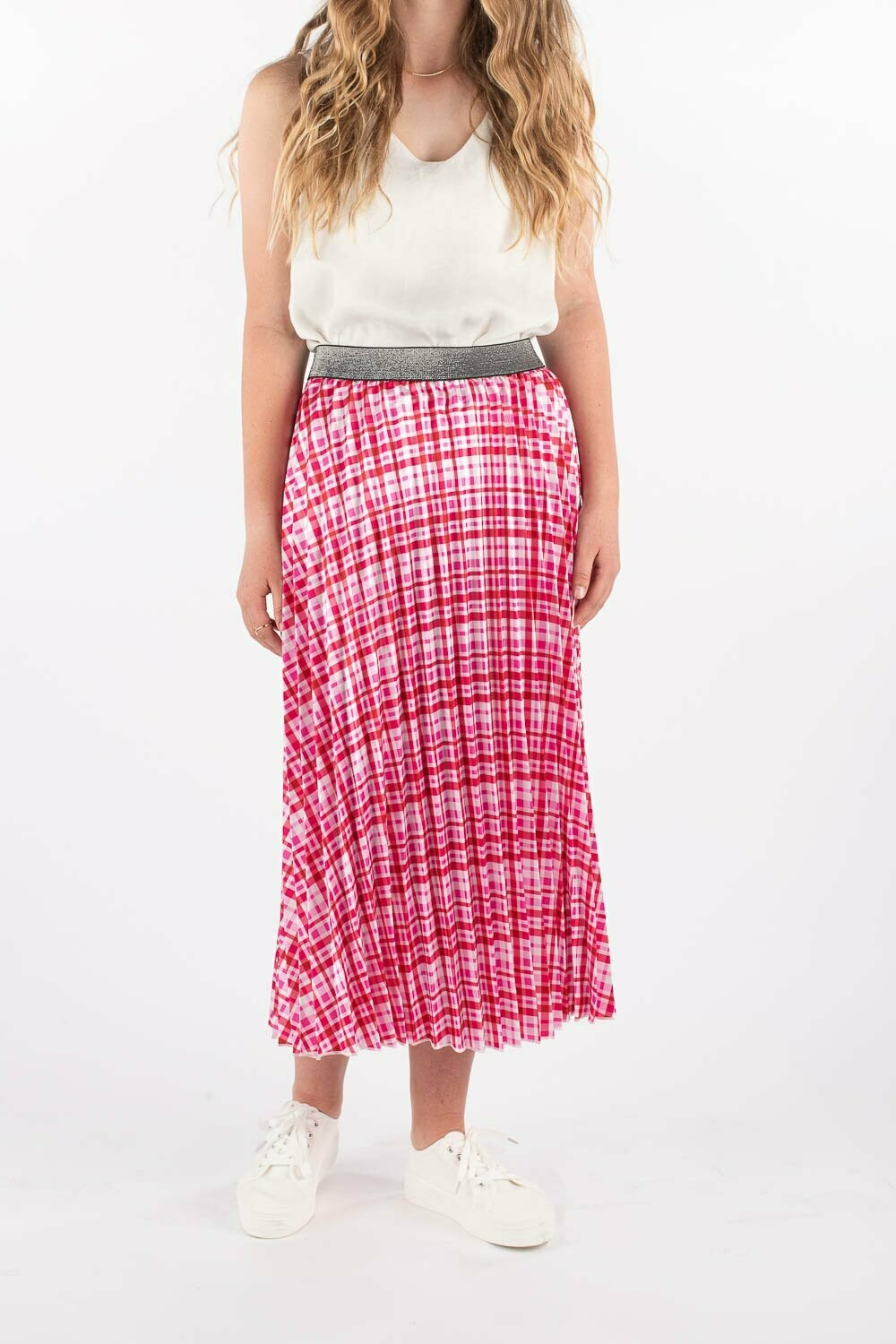 Pleated Skirt - Checked Out - One Size