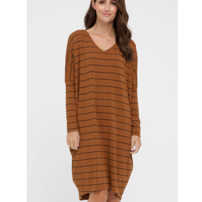 Caz Dress - Ginger Stripe