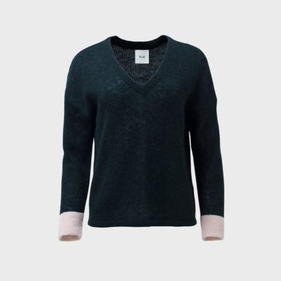 Edele Knit Sweater - Seaweed/Blush