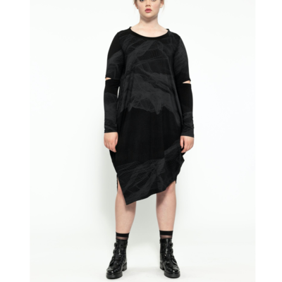 Tommy Dress - Black with Sulphur Print